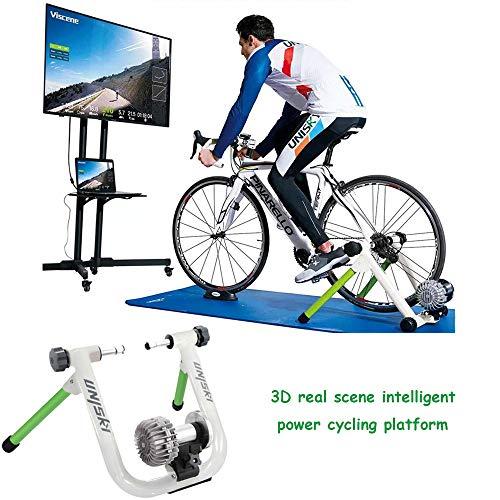 Soporte De Bicicleta Trainer Inteligente De Escena Real En 3D, Líquido Plegable Poder De Resistencia De La Bicicleta Turbo Trainer Estante De Ciclo Aptitud Del Ejercicio Rodillos Para Bicicletas