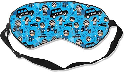 Geen druk Verstelbaar Oogmasker, Comfortabele Lichtgewicht Zijde Slaap Masker, Blindfold Oogdeksel voor Slapen Shift Werk Naps Reizen Oogschaduw (dieven Cobs en Robbers Politie)