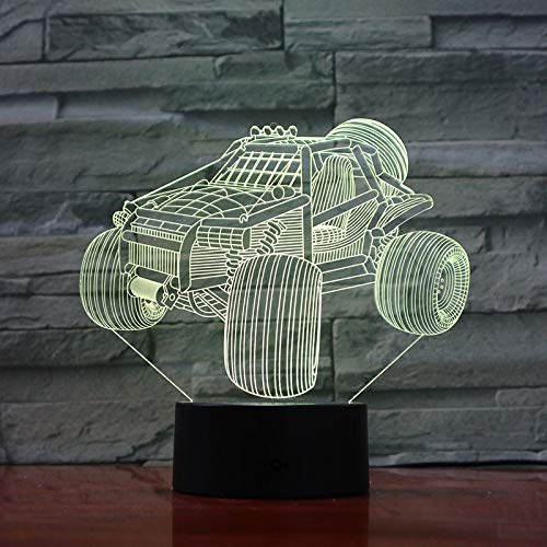 HHANN 3D Night Light Vision Led Table Lamp Super Cool ATV USB 16 Colorful Touch Baby Bedroom Decoration Night Light Children's Toys Creative Birthday Gift