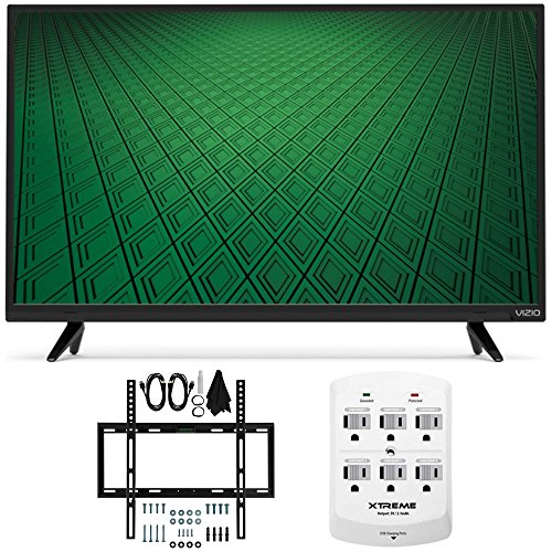 "Beach Camera Vizio D-Series D32hn-D0 32"" Class Full-Array LED HD TV Slim Flat Wall Mount Bundle Includes Vizio D32hn-D0 LED TV, Slim Flat Wall Mount Kit and 6 Outlet Wall Tap w/ 2 USB Ports"