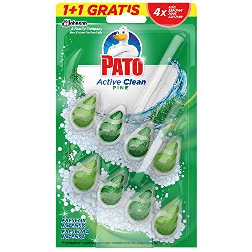 PATO - Active Clean Colgador para Inodoro, Frescor Intenso, Perfuma y Desinfecta, Aroma Pino. Dou pack, 2 unidades