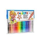Carioca Joy Cristal | 40036 - Caja de rotuladores Vintage Punta Fina, Superlavables, Colores Surtidos 36 Unidades