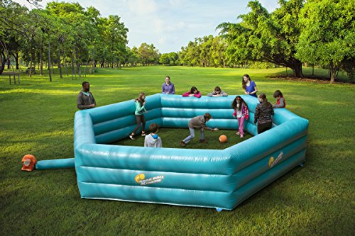 SCS Direct XL 20-Foot Inflatable Gaga Ball Pit + Electric Air Pump   Extra Large Gagaball Court Inflates in Under 4 Minutes - Indoor & Outdoor Recess/Playground Accessories