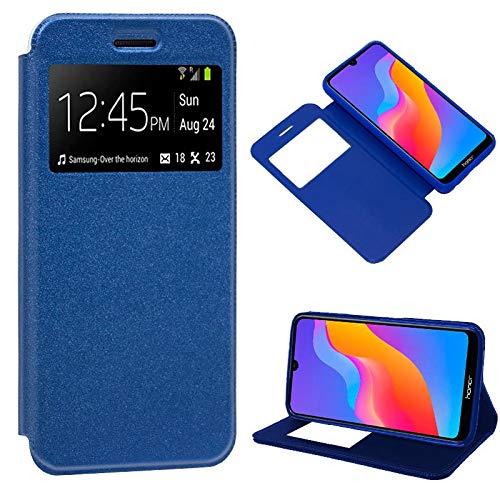 iGlobalmarket Funda Flip Cover Tipo Libro con Tapa para Huawei Y6 (2019) / Honor 8A Liso Azul