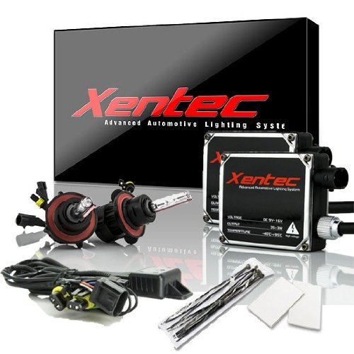 Xentec H13 (9008) 6000K Hi/lo Telescopic bixenon HID xenon bulb x 1 pair bundle with 2 x 35W Digital Ballast (Ultra White)