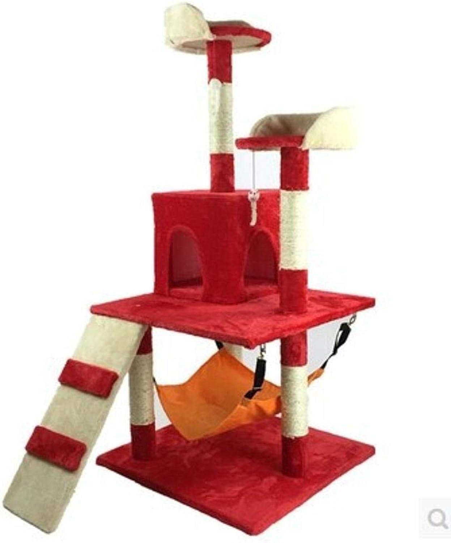 Axiba Play Towers Trees for Cats Cat climbing frame cat Jumping sword rope Cat Litter Cat grab column cat tree 60cm 58cm  130cm