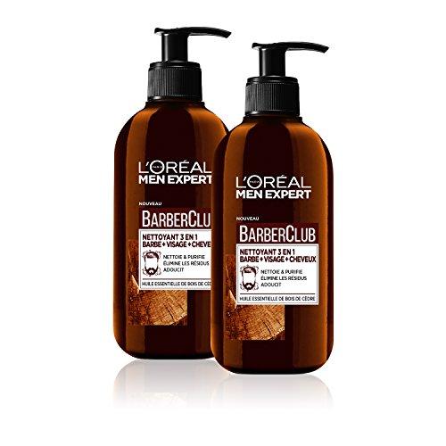 L'Oréal Men Expert - BarberClub - Nettoyant 3 en 1 Barbe Visage Cheveux Homme - À L'Huile...