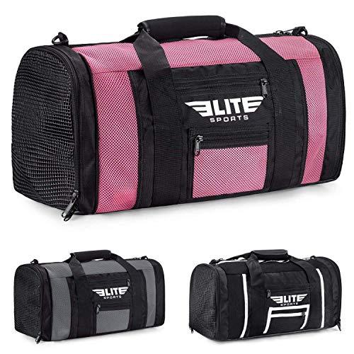 Elite Sports New Item Ventilated Mesh Duffel Gym Bag, Pink