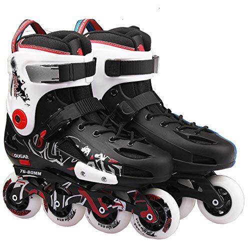 SXDQSZ Skates für Jungen, Mädchen, Männer, Frauen, Erwachsene, Profi, flache Schuhe, Rollschuhe, 43