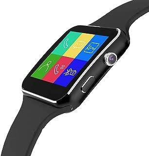 Xiangjin Wrist Watches,Arc Screen Smart Watch Lumin X6 Smartwatch Camera Sim Card Bluetooth Wrist Decor Gifts