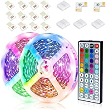 JESLED LED Strip Lights, 12M RGB LED Light Strips with 44-Key Remote Control, Color Changing Decorative LED Tape Lighting ...
