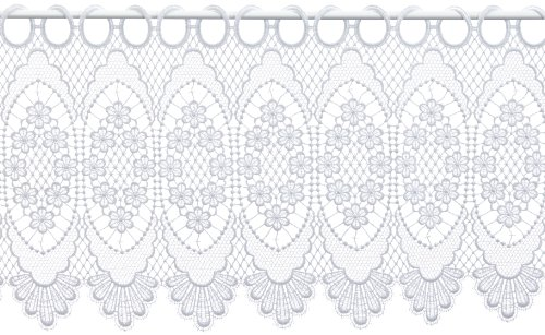 Plauener Spitze by Modespitze, Tendina decorativa, altezza 30 cm, Bianco (Weiß), larghezza: 112 cm