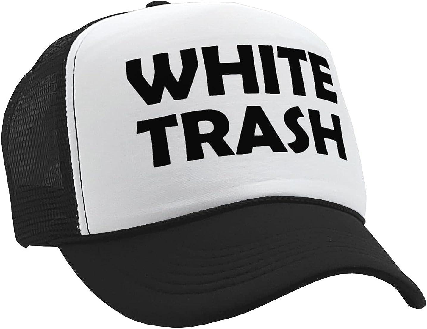 The Goozler - White Trash - Redneck Hillbilly Funny Prank - Vintage Retro Style Trucker Cap Hat