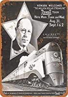 ブリキ看板1936ニューヨークセントラルレクサルドラッグストリームライナーTrainコレクティブルウォールアート