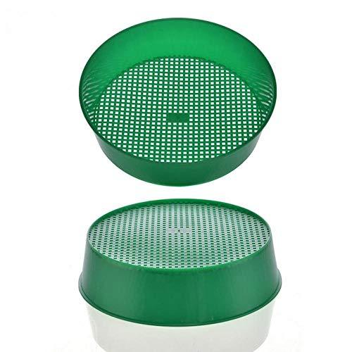 Oulensy New Green Plastic Gartenerde Sieve für Komposterde Stein Mesh-Gartenwerkzeug Boden Sieb Blumen-Gärtnerei Pflanze Prop Knit Sieve