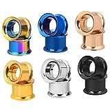 Longbeauty 6 Pair Stainless Steel Screwe Flesh Tunnel Expander Eer Plug Gauge Earlets 6 Colors 8MM