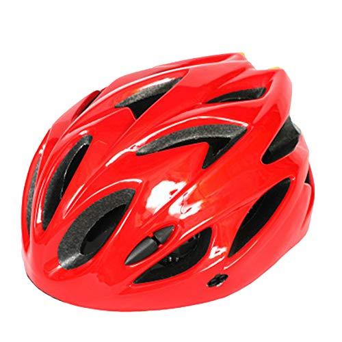 fuchsiaan Casco De Bicicleta Unisex para Adultos, Transpirable, Desmontable, Ajustable, con Orificios De Ventilación, para Ciclismo Bicicletas De Montaña, Bici De Carretera, BMX, Rojo