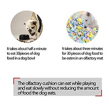 DODUOS Tapis de Fouille Chien 45 x 45 cm Jeu Tapis Snuffle pour Chien Chat Multicolore Tapis de Reniflement Pliable Chien Chat pour Foraging, Exercice, Relaxation