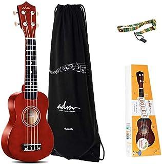 ADM Soprano Ukulele Beginner Ukulele Kit with Gig Bag, Kids Ukelele Package, Brown