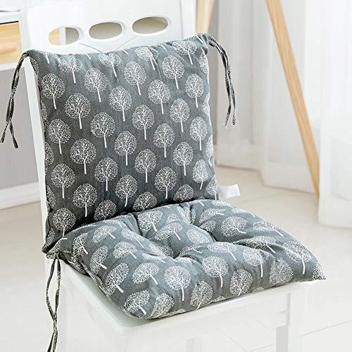KongEU Coussin de chaise de jardin pour chaises à dossier bas, rembourrage en mousse souple et dossier détachable avec fermeture Éclair 80 x 40 x 6,5 cm (sans les chaises). 80x40x6.5cm #6