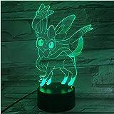 Jkxiansheng Pokemon Go Sylveon Figure Bébé Nuit Lampe Led Capteur Tactile Batterie Veilleuse Cadeau De Vacances Luminara Veilleuse 3D