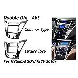 NIANZAI Hongfubang for Hyundai Sonata YF 2010+ DVD CD de Audio del Panel de Radio de la rociada del Montaje del capítulo de Ajuste Montaje Kit Fascia Cara Envolvente Bisel Doble DIN