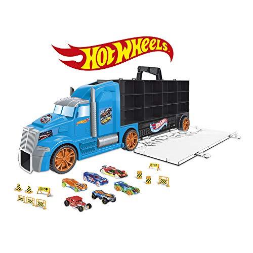 ODS- Transporter 65 America Mattel Hot Wheels Camion Valigetta 65 cm, Colore Azzurro, 42035