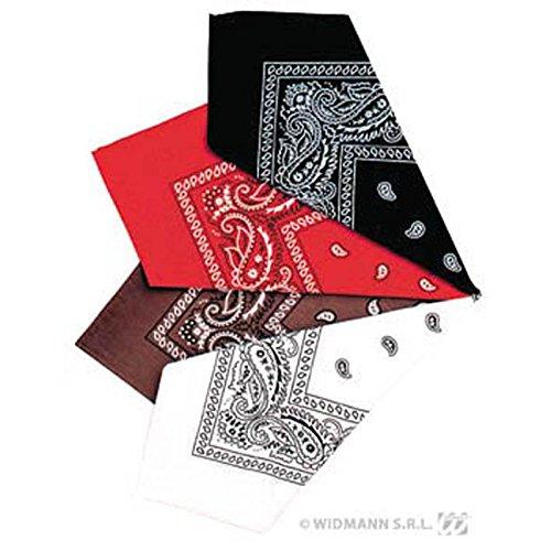 Widmann–ac1997–Bandana 55x 55cm,, Braun/Rot/Schwarz/Weiß
