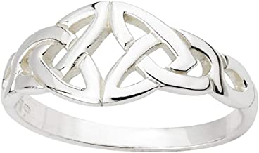 Biddy Murphy Womens Trinity Knot Ring Sterling Silver Made in Ireland