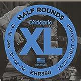 D'Addario D'Addario EHR350 Electric Guitar Strings - Half Round - Light- 1 Set