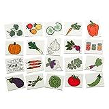 Tater Tats Veggie Lovers Pack: 20 Temporary Vegetable Tattoos
