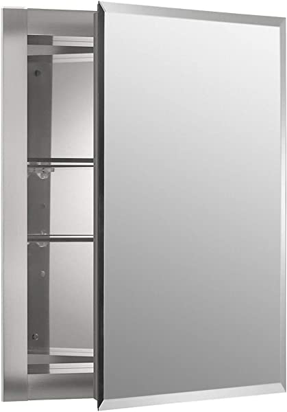 Kohler K CB CLR1620FS Frameless 16 Inch X 20 Inch Aluminum Bathroom Medicine Cabinet Recess Installation Only Pack Of 3