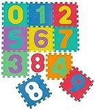 Mugar-Suelo para niños puzle 31,5x31,5x1cms de goma Eva Letras,números. Alfombra de juego puzle (1 Set de 10 números del 0 al 9)
