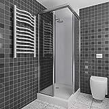 A+H Panneau arrière de douche panneau mural en PVC haute qualité, blanc, alternative pour panneaux composites aluminiunm, couleurs differentes, 200 x 100 cm