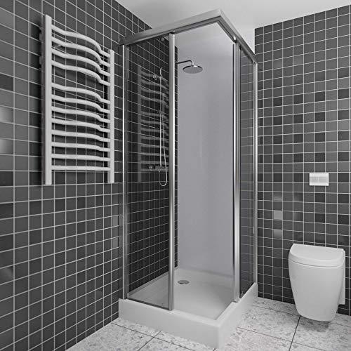 A+H Wandverkleidung - Kunststoffplatte als Duschrückwand für Dusche/Badewanne - Duschplatte/Duschwand mit Schutzfolie (250x100cm, weiß)