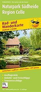 Naturpark Südheide - Region Celle: Rad- und Wanderkarte mit