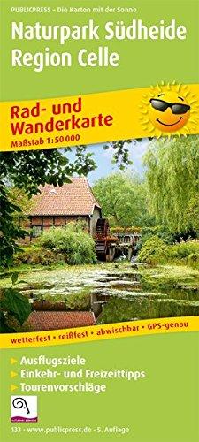 Naturpark Südheide - Region Celle: Rad- und Wanderkarte mit Ausflugszielen, Einkehr- & Freizeittipps, wetterfest, reissfest, abwischbar, GPS-genau. 1:50000 (Rad- und Wanderkarte: RuWK)