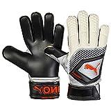 Puma One Protect 3 - Guanti da portiere, colore: nero/argento/bianco/arancione shocking