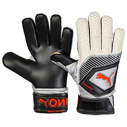 PUMA One Protect 3 Torwarthandschuhe, Black/Silver/White/Shocking Orange, 9.5