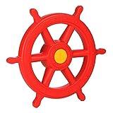 Gartenpirat Steuerrad rot XXL mit Drehgeräusch Schiffslenker Pirat Zubehör Spielturm