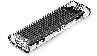 Carcasa transparente para disco duro USB 3.1 Gen2 tipo C M.2 NVME SSD HDD compatible con 2230 2242 2260 2280 SSD Drive aplicable para PC y teléfono hasta 2 TB con 2 tipos de cable y juego de tornillos