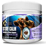 DR DOG Stay Calm Anxiety Calming Supplement for Dogs – 60 Natural Soft Chew Tasty Treats - Stress Nervous Hyperactivity Relief Vet Grade Aid – Fussy Pet Friendly - Made in UK