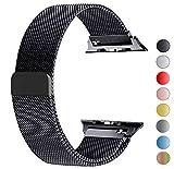 VIKATech Compatible Cinturino per Apple Watch Cinturino 40mm 38mm, Cinturino Orologio Bracciale in Acciaio Inossidabile Cinghia Banda Bracciale per iWatch Series 5/4/3/2/1 Nero
