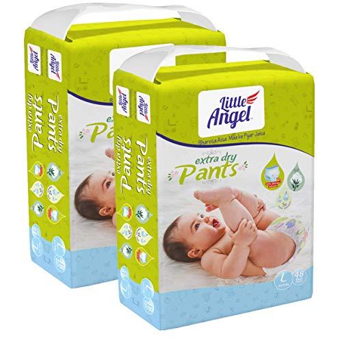 Little Angel Baby Diaper Pants, Large (2 X Pack of 48 Pcs)