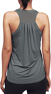 Mippo Workout Tops for Women Yoga Racerback Tank Tops Sleeveless Shirts with Mesh Back
