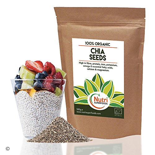Raw Organic Chia Seeds - Vegan Plant Protein for Endurance - Improves...