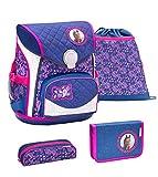 Belmil ergonomischer Schulranzen Set 4 -teilig für Mädchen 1-4 Klasse Grundschule/mit Brustgurt,...