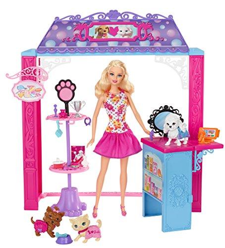 Mattel - Muñeca Barbie Tienda de Mascotas