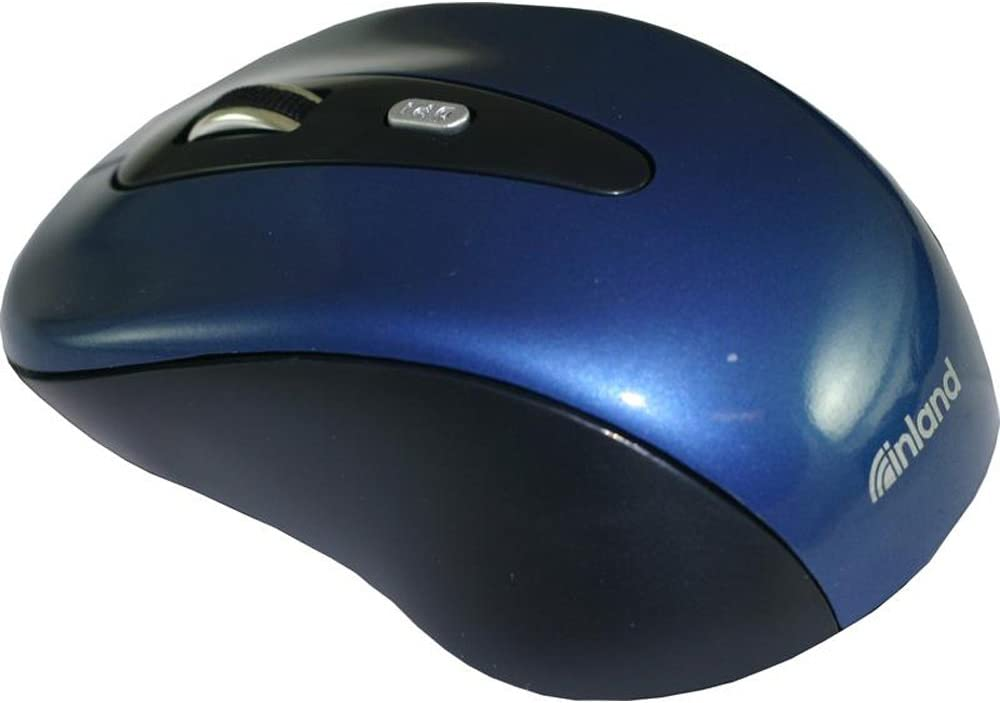 Inland 2.4GHz Wireless Optical Mouse, Blue (07439)