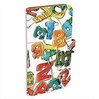 Y!mobile Android One S1 用 スマホケース 手帳型 ミラータイプ [キャンディロゴ・白カラフル] ロリポップ ペイント ナンバーズ ワイモバイル アンドロイド SIMフリー スタンド スマホカバー 携帯カバー [FFANY] lolipopo 00l_143@01m